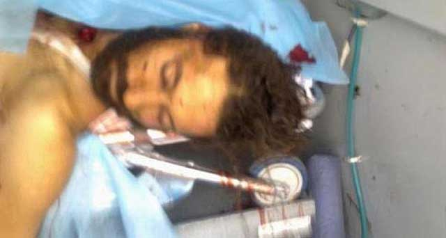 El cadáver de Mutasem Gadafi, hijo del difunto dictador libio Muamar Gadafi. | Al Arabiya