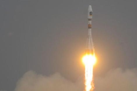 El cohete Soyuz, al inicio del despegue. | Agencia Espacial Europea.