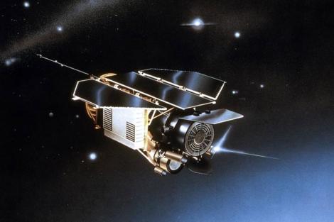 Recreación del satélite alemán Rosat.  AP