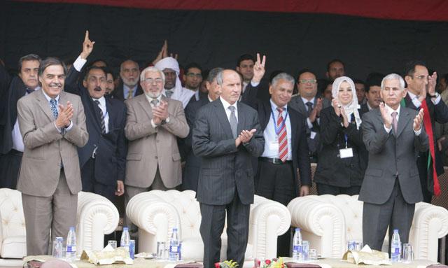 Imagen del Consejo Nacional de Transición, tras el anuncio de la imposición de la 'sharia'. | Efe
