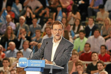 Mariano Rajoy, candidato del PP a la Presidencia del Gobinero.   Christian Maury