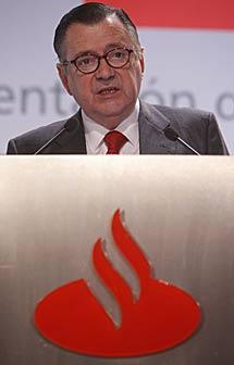 Alfredo Sáenz, consejero delegado del Santander. | Diego Sinova