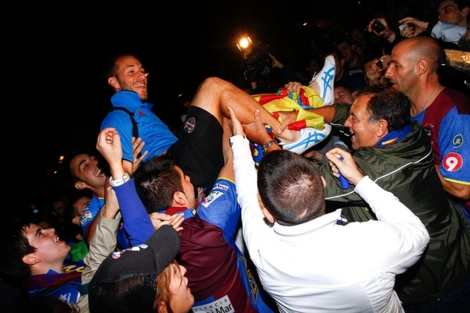 Aficionados del Levante celebran la victoria ante el Villarreal | Levante UD