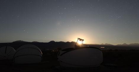 El telescopio de San Pedro de Atacama fue uno de los tres que detectó la ocultación. | A. Maury.