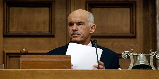 Papandreou, en la Cámara.   Reuters