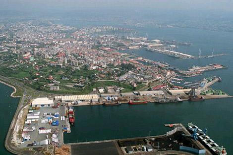 Vista aérea del puerto interior de Ferrol. | Autoridad Portuaria