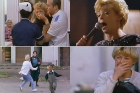 Cuatro capturas del tráiler de 'Ladybird, Ladybird' (1994).