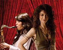 Carmen París y Melissa Aldana, el 3 de diciembre.