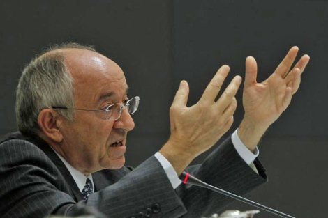 Miguel Ángel Fernández Ordóñez, gobernador del Banco de España (BE). | Sergio González