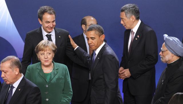El presidente de EEUU, Barack Obama, saluda al presidente del Gobierno, José Luis Rodríguez Zapatero. | AP