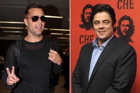 Ricky Martin y Benicio del Toro ya son españoles.   Gtres