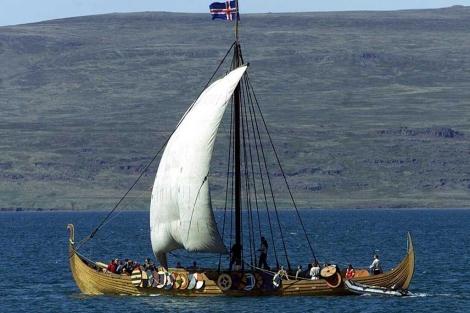 El barco 'Icelander', una réplica de las embarcaciones vikingas. | Reuters.