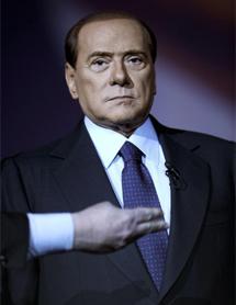 Berlusconi comparece en un programa de televisión. | Afp