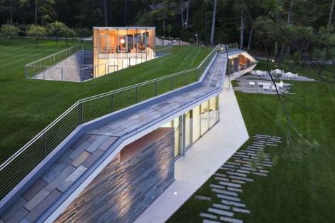 Vista de la casa frente al lago George (Nueva York). | Peter Gluck and Partners, Architects