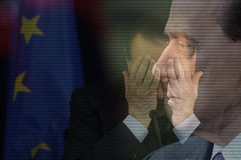 Dos retratos de Silvio Berlusconi.