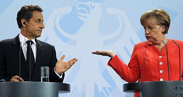 Merkel y Sarkozy, en una rueda de prensa que dieron en Berlín.   Reuters