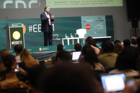 Pedro J. Ramírez, durante su intervención en Evento Blog España.   J. Morón