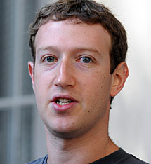Mark Zuckerberg. | Afp