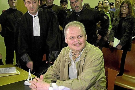 Ilich Ramírez, en una imagen tomada en un tribunal francés. | Afp