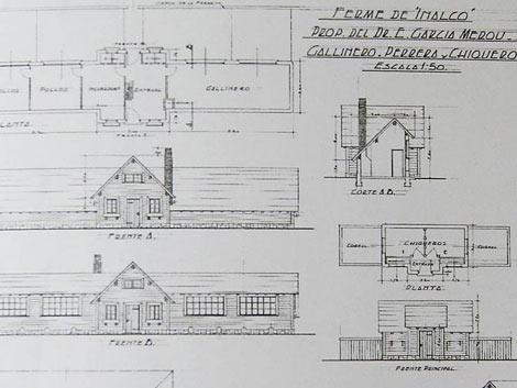 Los planos de la casa, del arquitecto Fernando Bustillo | Mariana Muriel Fernández / Perfil.com