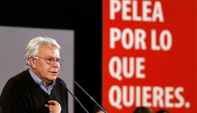 El ex presidente durante el mitin de Ourense.   Efe