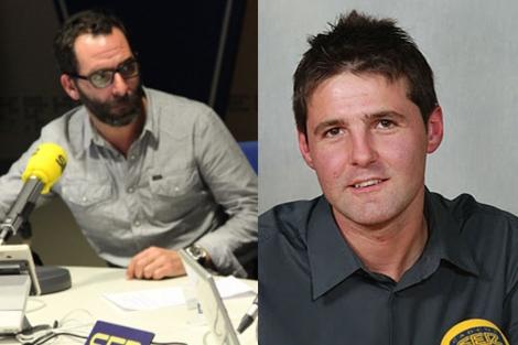 Los periodistas Gonzalo Cortizo y Jesús Cintora. (Foto: Ser)