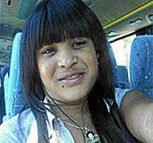 La joven asesinada.