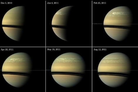 Evolución de la tormenta desde diciembre de 2010 a agosto de 2011. | NASA