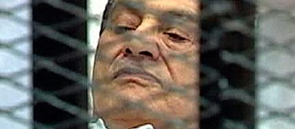 Mubarak, durante su juicio.