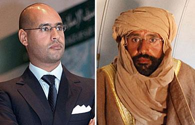 Saif a Islam, en Trípoli hace unos meses, y tras ser detenido. | Efe y Reuters