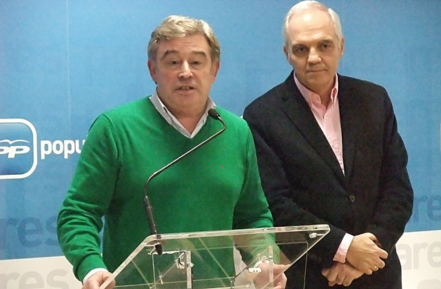 Xosé Manuel Barreiro y Joaquín García Díez, miembros del PP lucense.