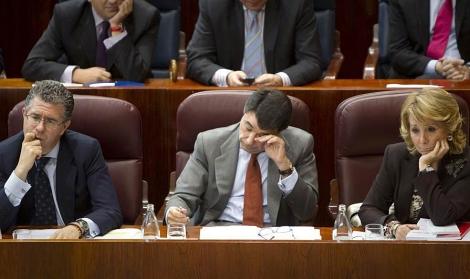 Granados, González y Aguirre, en una imagen de archivo. | Di Lolli