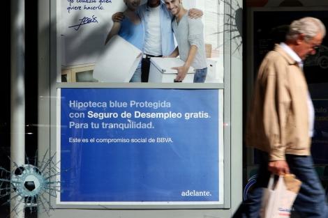 Campaña para comercializar hipotecas del BBVA.   José Aymá