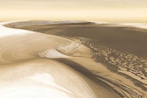 Paisaje de Marte, captada por la NASA. | NASA