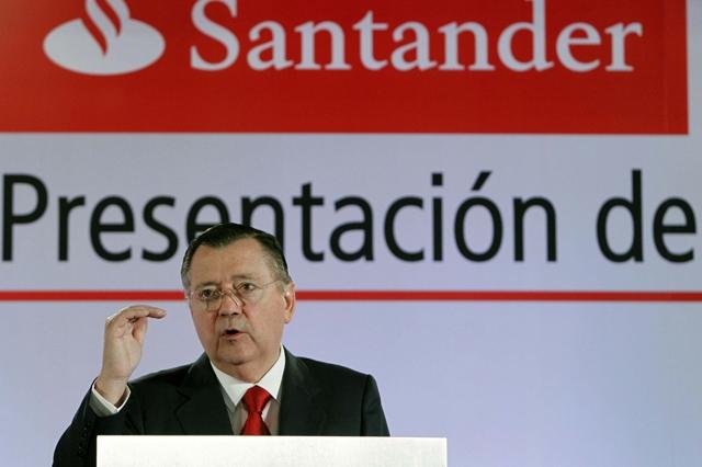 El vicepresidente y consejero delegado del Banco Santander, Alfredo Sáenz. | Efe