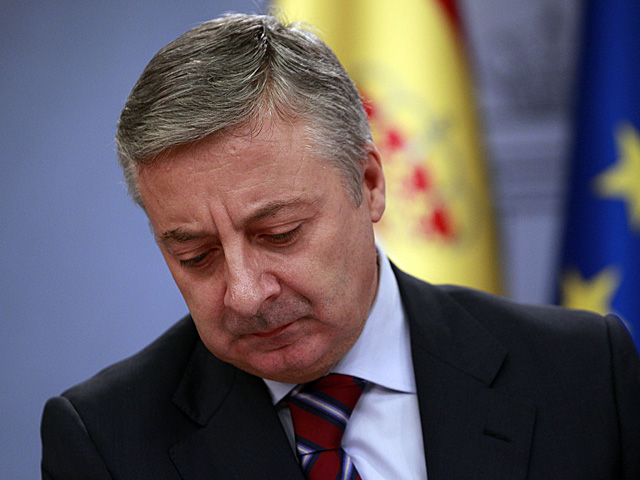 José Blanco, en rueda de prensa tras el Consejo de Ministros. | Javier Barbancho