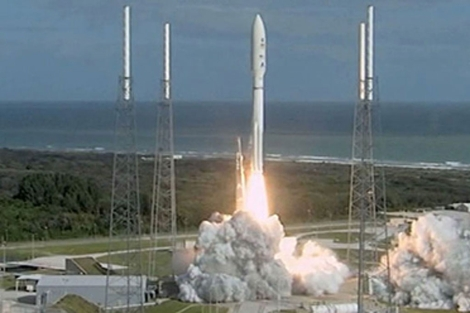El cohete 'Atlas V', durante el despegue. | NASA