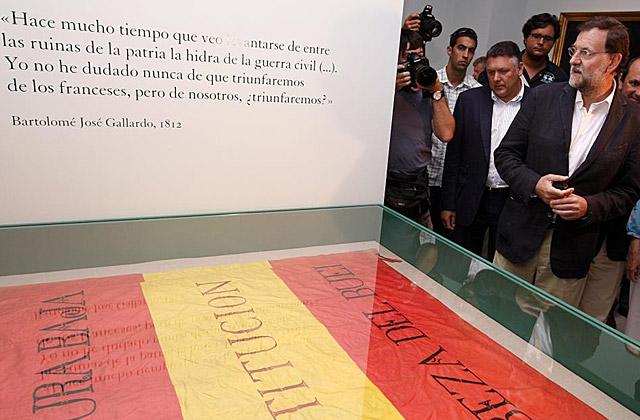 Rajoy, en una exposición sobre la Guerra de la Independencia, en 2009. | Diego Crespo