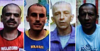 De izda. a dcha: Moreno, Rivas, Duarte y Libio José Martínez. | Reuters / Efe