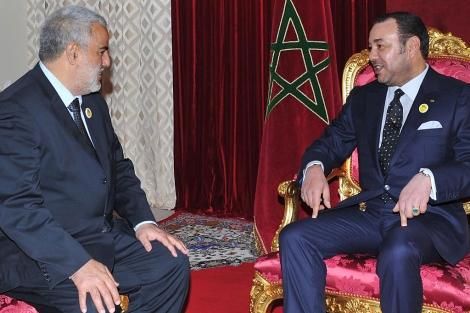Abdelilah Benkirane se reúne con Mohamed VI. | AFP