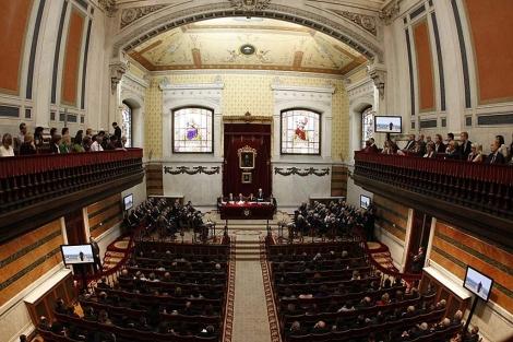 El Salón de Plenos de la Real Academia Española. | Diego Sinova