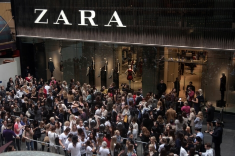 Apertura de una tienda del grupo Zara en Sidney.