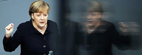 Angela Merkel, en el Bundestag. | Efe