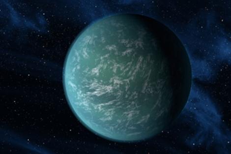 Recreación artística del planeta 'Kepler 22b'. | NASA