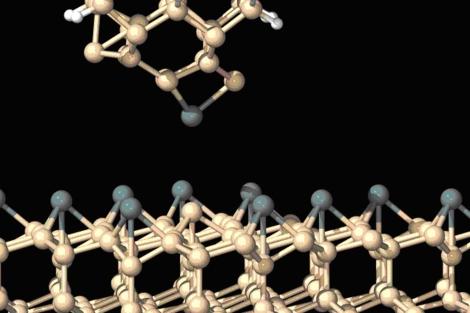 Simulación teórica del proceso de intercambio de átomos en microscopía de fuerzas.| R. Pérez.