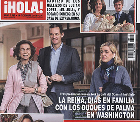 Ultima aparición pública de Iñaki Urdangarin, en la revista Hola.