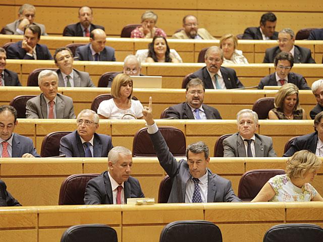 Votación en el Senado la pasada legislatura. | A. Cuéllar.