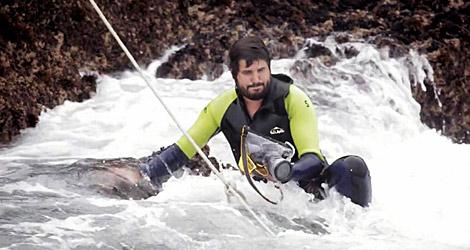 El documental requirió de escenas de elevado riesgo en las rocas.