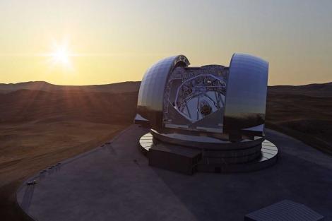 Recreación del futuro telescopio E-ELT de ESO. | ESO