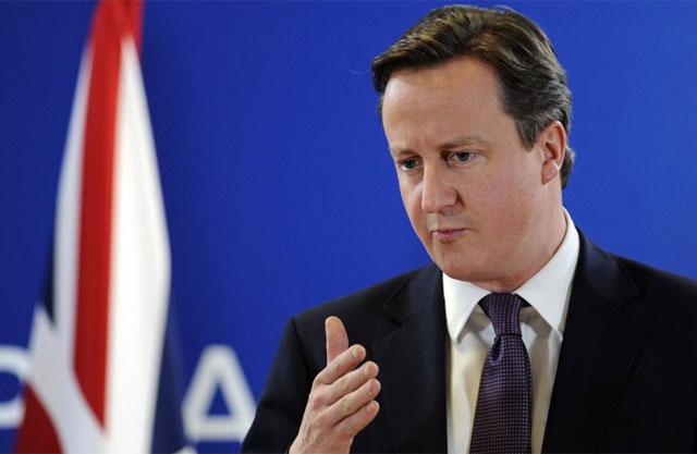 El primer ministro británico explica su postura en la rueda de prensa posterior a la reunión. | Afp